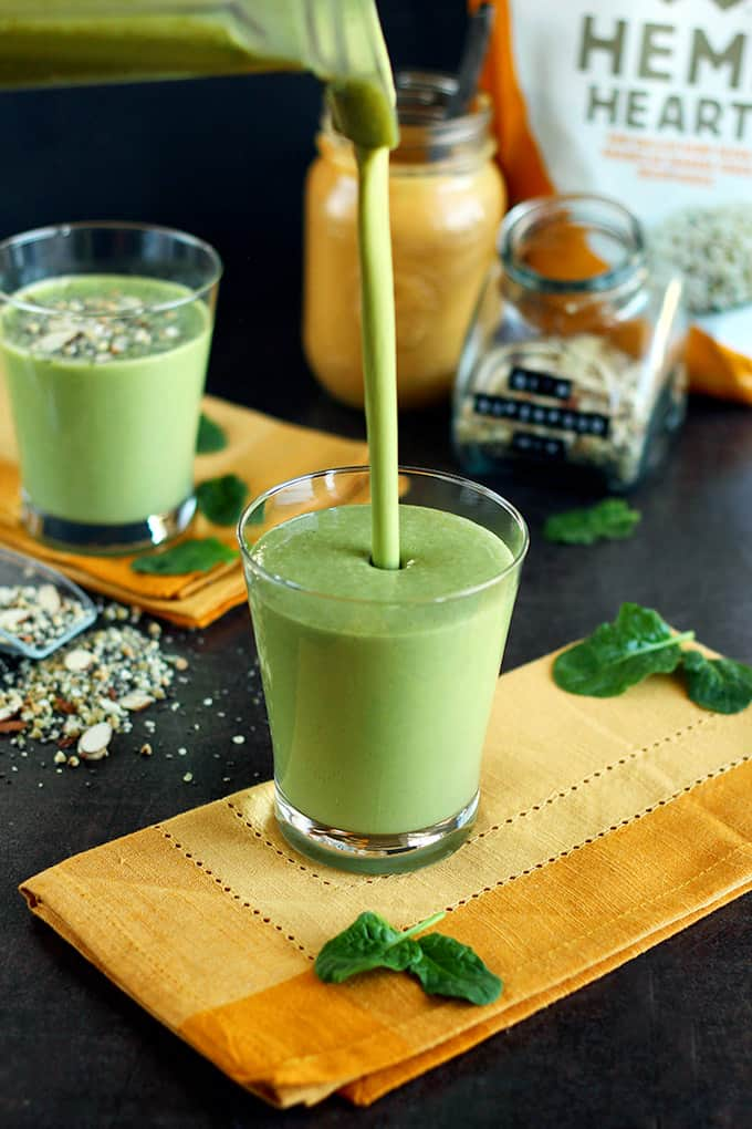 My Absolute Favorite Green Protein Smoothie Recipe Alt