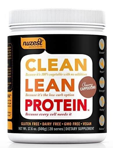 nuzest clean lean protein premium pea protein powder