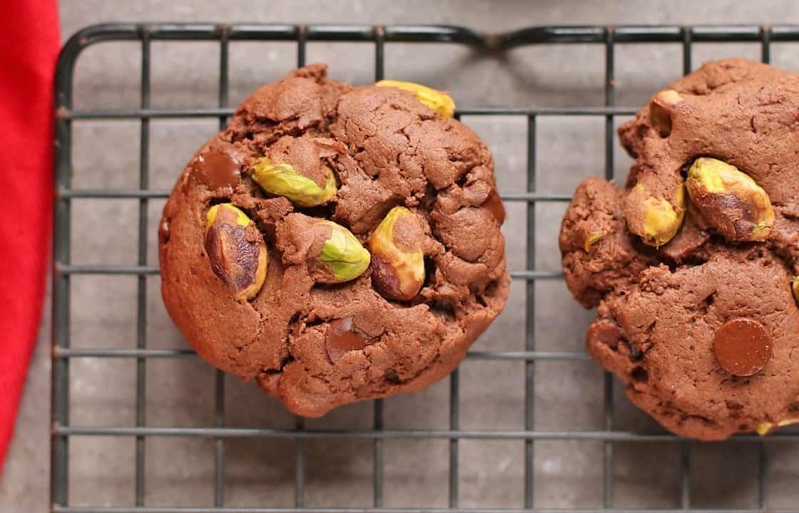 Triple-Chocolate Pistachio Cookie