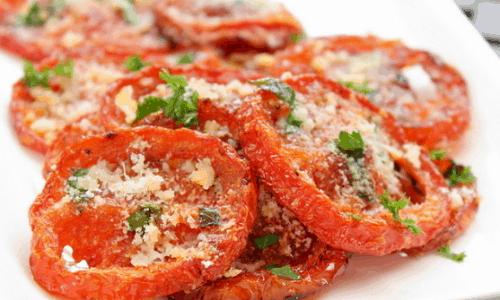 crispy parmesan tomato chips