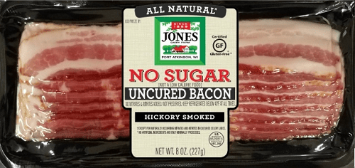 jones bacon no sugar