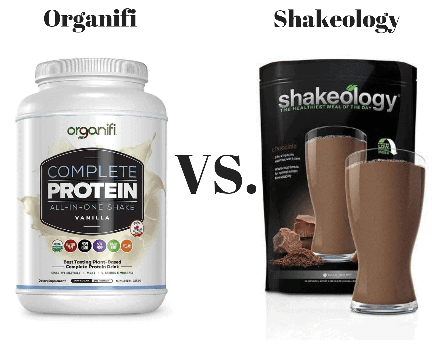 Organifi vs Shakeology