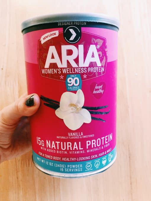 aria protein powder for women