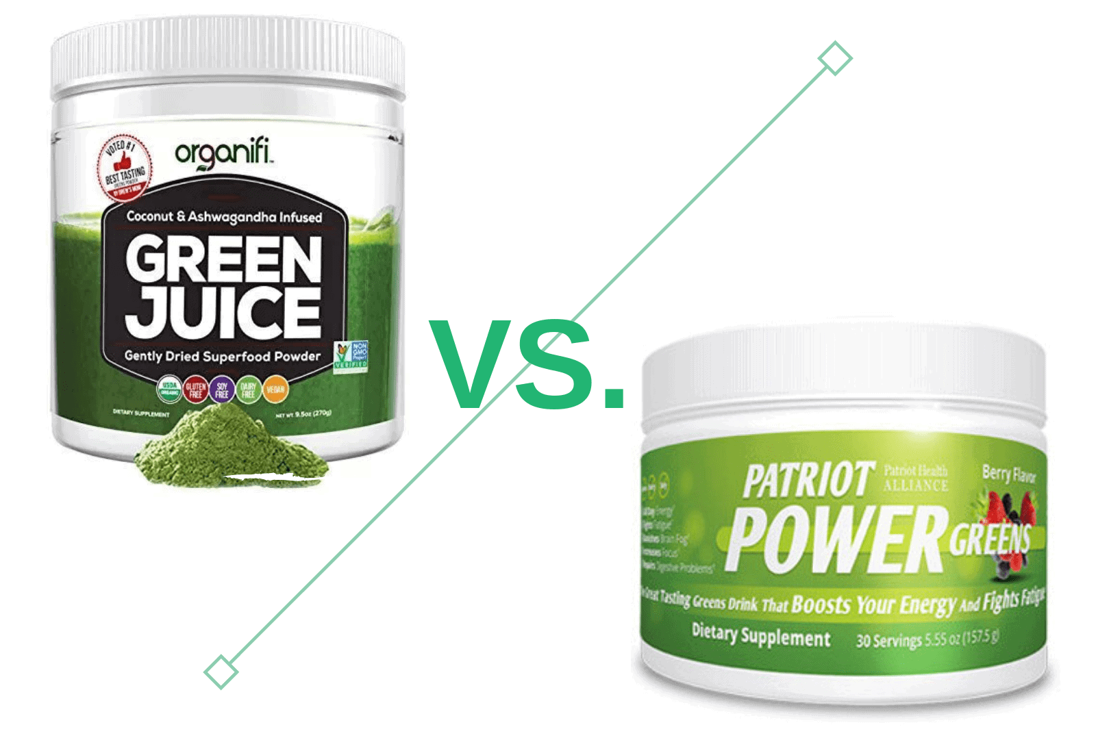 organifi green juice vs patriot power green-min
