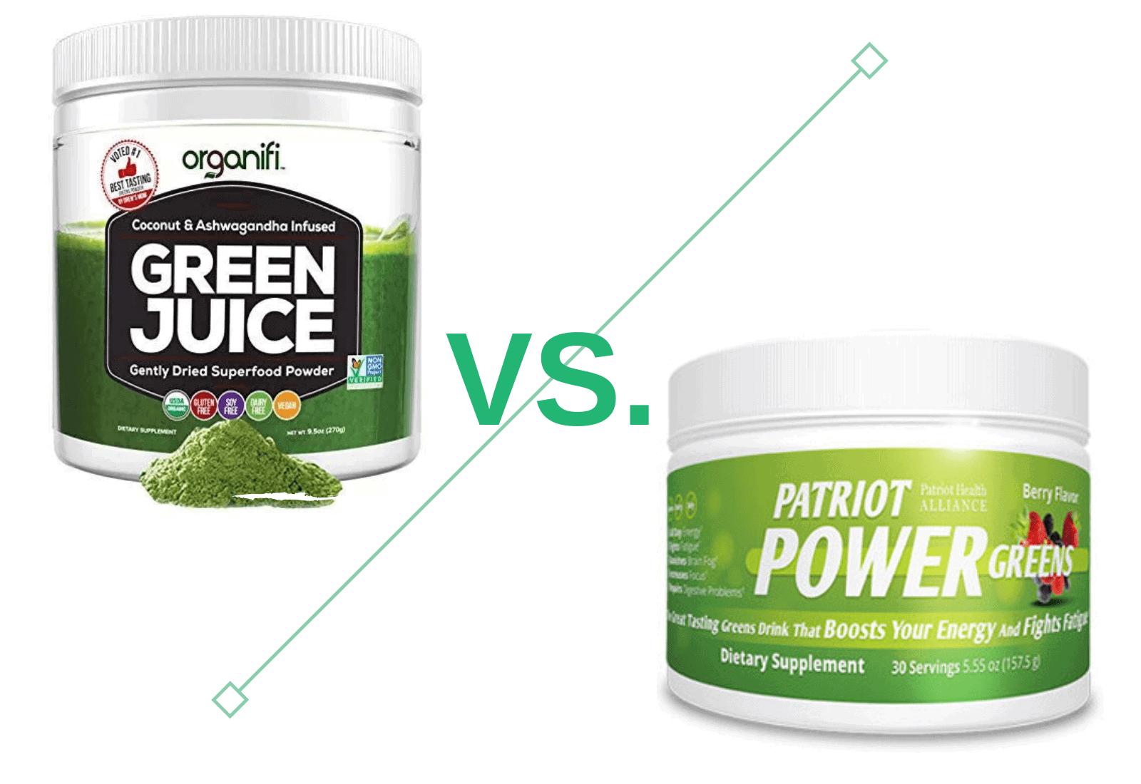 Organifi Green Juice vs Patriot Greens - Which Green Juice is Best?