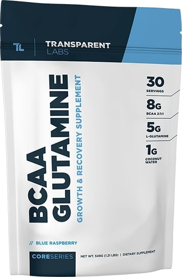 transparent labs bcaa glutamine natural aminos